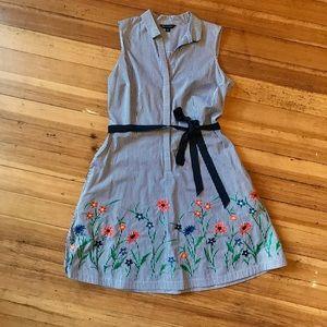 Brooks Brothers cotton pin stripe dress. Size (12)